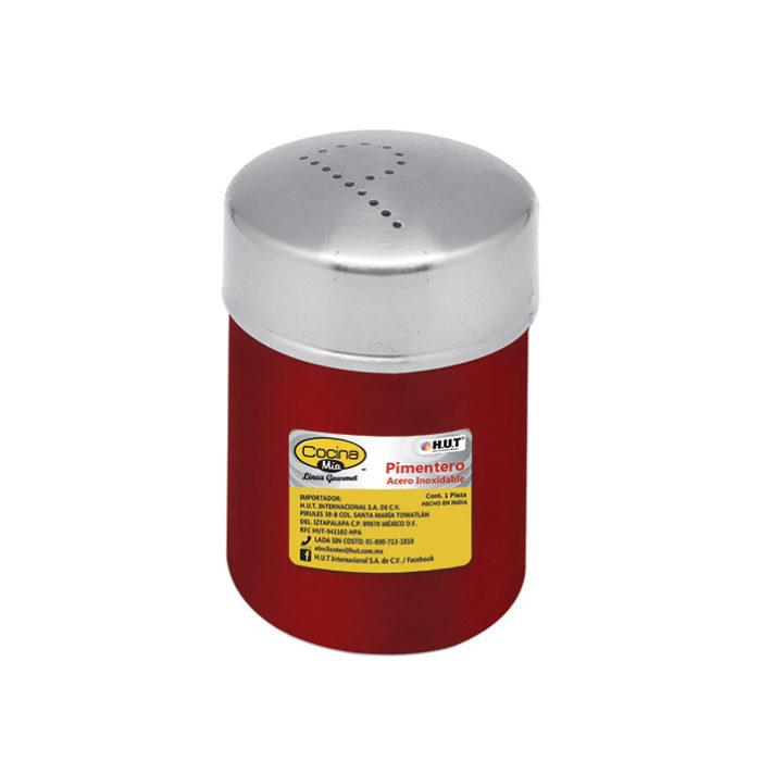 Pimentero de acero inoxidable rojo